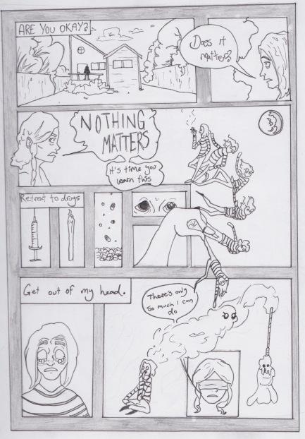 Comic panel draft